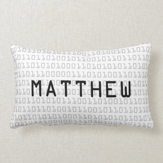 Fun and Cool Binary Code Personalized Lumbar Cushion