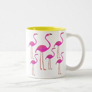 Fun and Funky Flamingos Two-Tone Mug