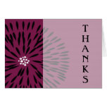 Fun and Funky Flower Thank You Card