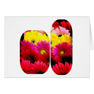 Fun and Funky Gerbera Daisies Blank Greeting Card