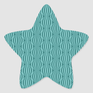 Fun and Modern Aqua Blue Circle Pattern Star Sticker
