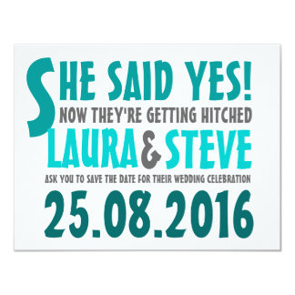 Fun and Modern Save the Date - Any Color 11 Cm X 14 Cm Invitation Card