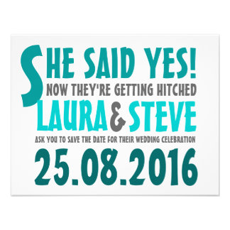 Fun and Modern Save the Date - Any Color Announcement