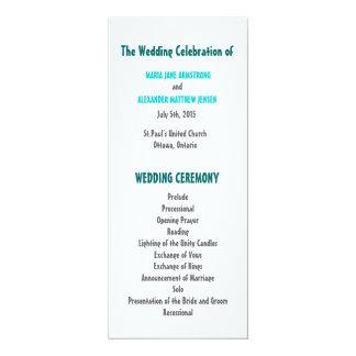 Fun and Modern Wedding Program 10 Cm X 24 Cm Invitation Card