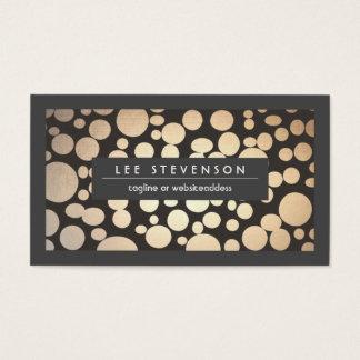 Fun and Stylish Gold Pattern Modern Business Card