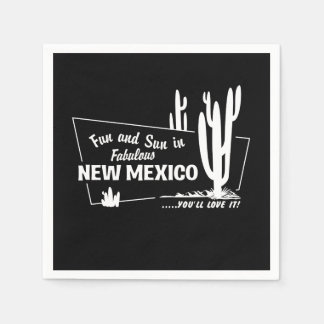 Fun and Sun in Fabulous New Mexico Paper Serviettes