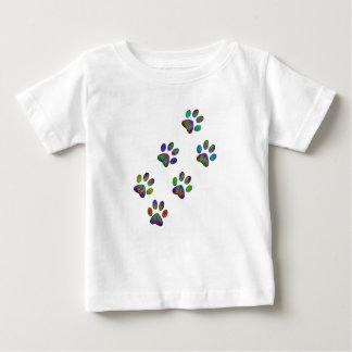 Fun animal paw prints. baby T-Shirt