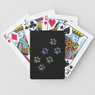 Fun animal paw prints. bicycle playing cards