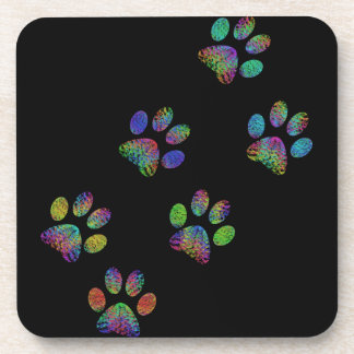 Fun animal paw prints. coaster