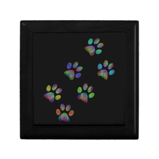 Fun animal paw prints. gift box