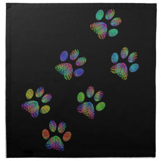 Fun animal paw prints. napkin