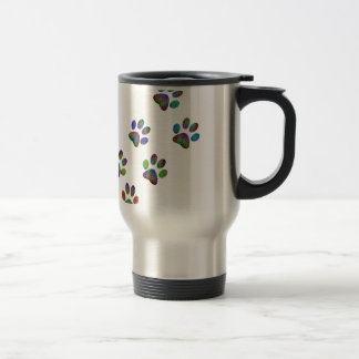 Fun animal paw prints. travel mug