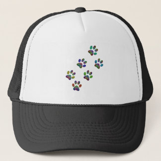 Fun animal paw prints. trucker hat