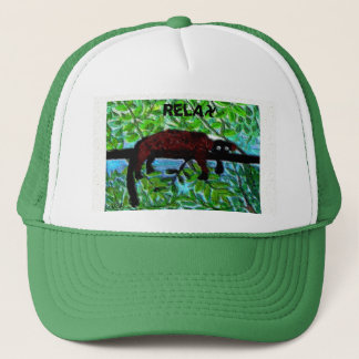 Fun Animal Red Lemur Art Trucker Hat