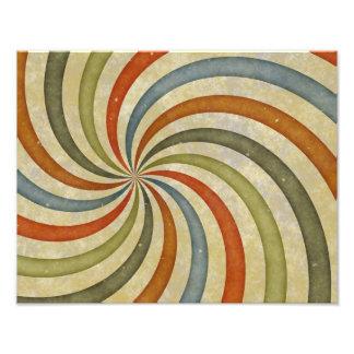 Fun Art Deco Colorful Swirl Art Photo