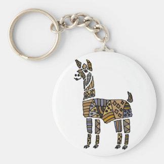 Fun Artistic Llama Art Key Ring