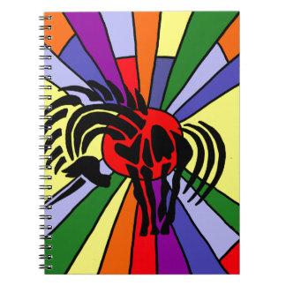 Fun Artistic Unicorn Silhouette and Rainbow Art Notebook
