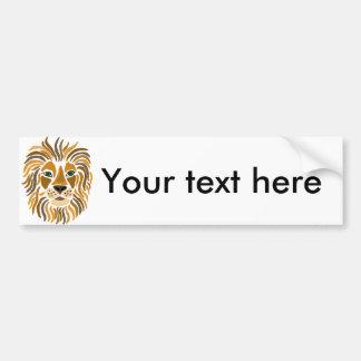 Fun Artsy Lion Abstract Art Bumper Sticker