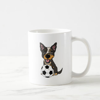 Fun Australian Cattle Dog Soccer Artwork Coffee Mug