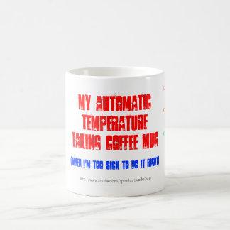 Fun-auto-thermometer 'take Ur temp' coffee/tea cup