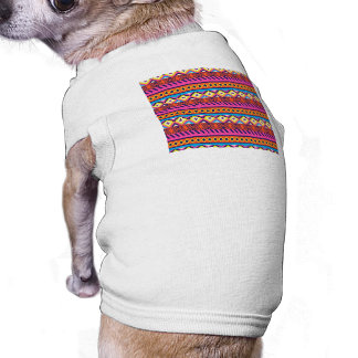 Fun Aztec Tribal Borders Dog Clothing