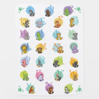 Fun Baby Animal Alphabet Baby Blanket