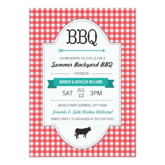 Fun Backyard BBQ Invite