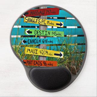 Fun Backyard Travel Signs Gel Mouse Pad
