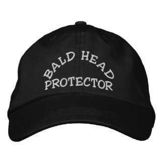 Fun Bald Head Protector Device Embroidered Baseball Cap