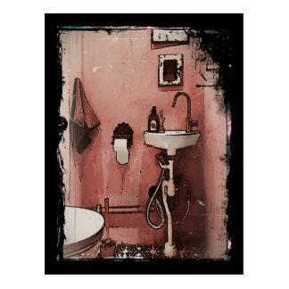 Fun Bathroom Postcard