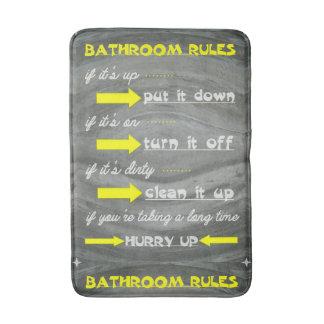 Fun Bathroom Rules Bath Mat