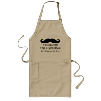 Fun BBQ apron for men | I mustache you a question