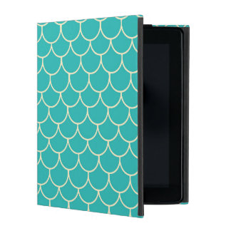 Fun beach mermaid scales pattern iPad 234 case