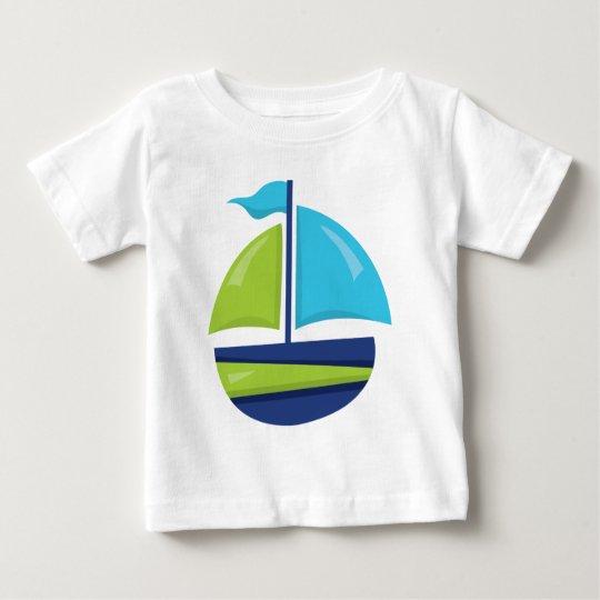 Fun Beach sailboat baby boys t-shirt