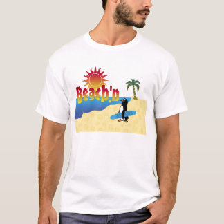 Fun Beach'n Penguin Surfboard T-Shirt
