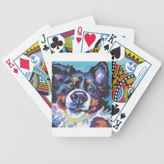FUN Bernese Mountain Dog pop art painting Bicycle Playing Cards