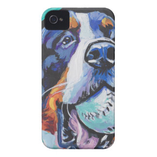 FUN Bernese Mountain Dog pop art painting Case-Mate iPhone 4 Cases