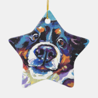 FUN Bernese Mountain Dog pop art painting Ceramic Ornament