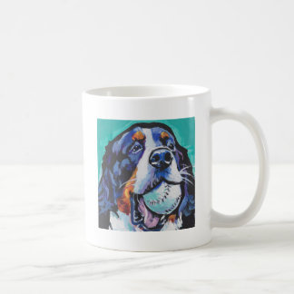 FUN Bernese Mountain Dog pop art painting Coffee Mug