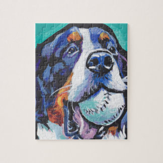 FUN Bernese Mountain Dog pop art painting Jigsaw Puzzle