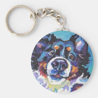 FUN Bernese Mountain Dog pop art painting Key Ring