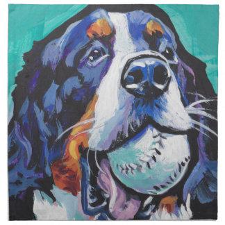 FUN Bernese Mountain Dog pop art painting Napkin