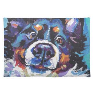 FUN Bernese Mountain Dog pop art painting Placemat