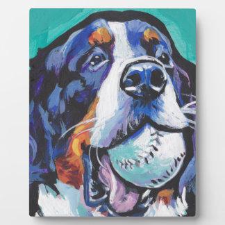 FUN Bernese Mountain Dog pop art painting Plaque