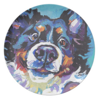 FUN Bernese Mountain Dog pop art painting Plate
