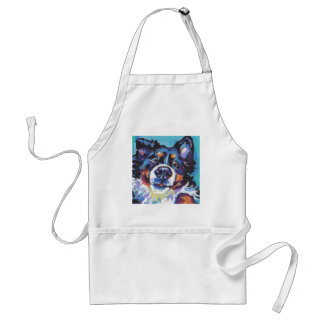 FUN Bernese Mountain Dog pop art painting Standard Apron