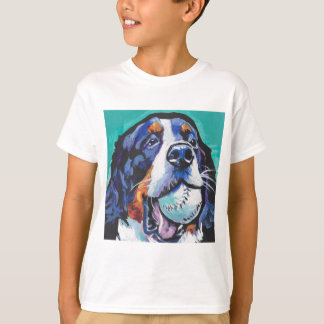 FUN Bernese Mountain Dog pop art painting T-Shirt