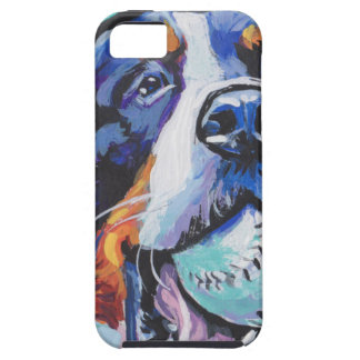 FUN Bernese Mountain Dog pop art painting Tough iPhone 5 Case