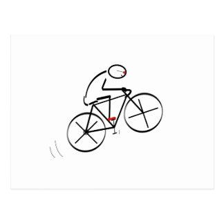 Fun Bicyclist Design Postcard