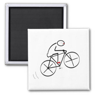 Fun Bicyclist Design Square Magnet